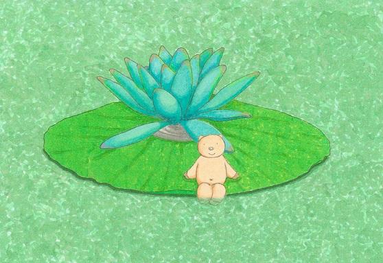 コブタさんと蓮の花SS.jpg